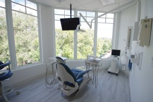 dental clinic operatory with view
